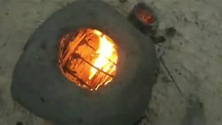Thử Thách Sinh Tồn ---đắp lò nướng bằng đất sét--