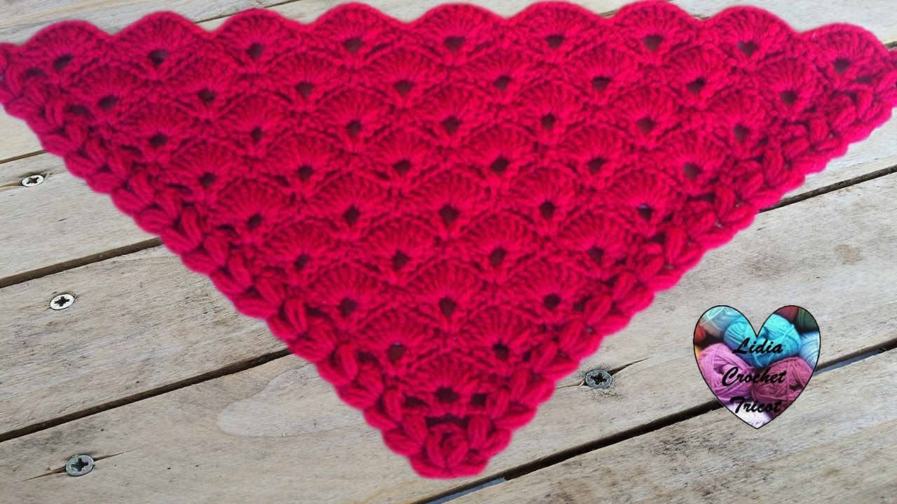 ch le ventail crochet facile chale albanicos facil a. Black Bedroom Furniture Sets. Home Design Ideas