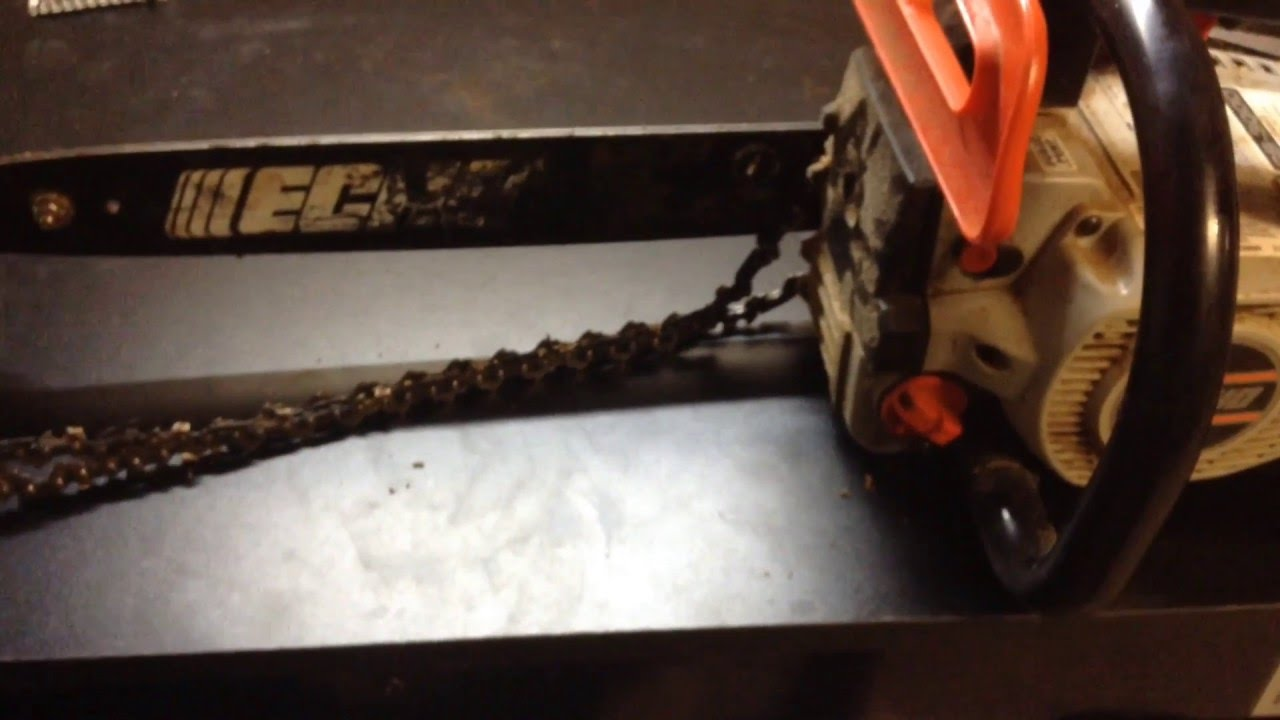 How to put the chain back on a chainsaw youtube how to put the chain back on a chainsaw keyboard keysfo Gallery
