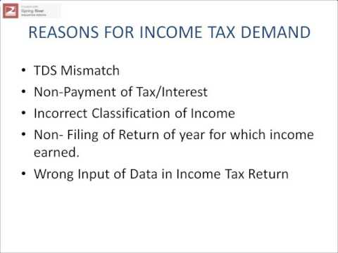 Reasons for Tax Demand.pps