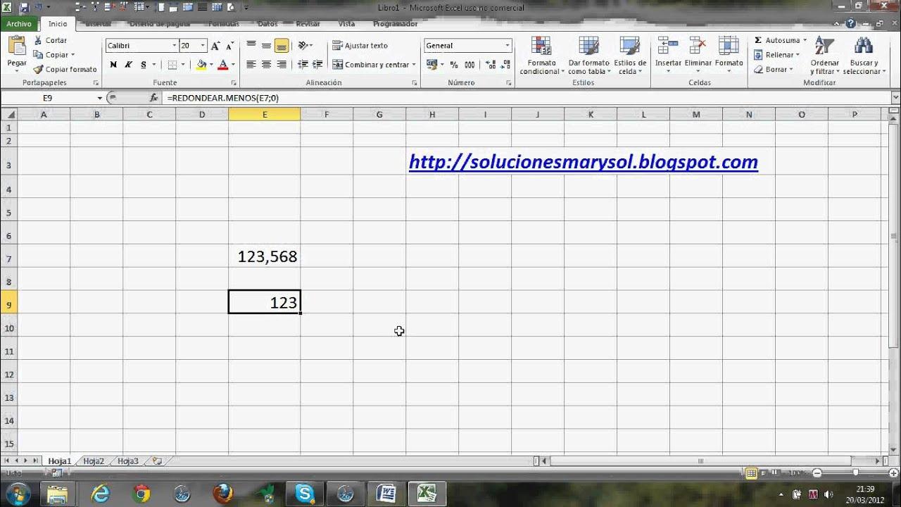 Excel 2010, separa la parte entera y decimal de un número.avi 1 de 2 ...