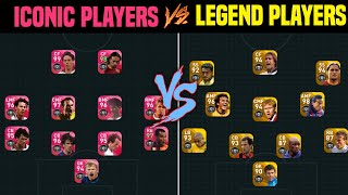 ICONIC MOMENT PLAYERS VS LEGEND PLAYERS | GAMEPLAY IN PES 2020 MOBILE | WHO'LL WIN.? |