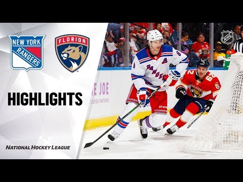 NHL Highlights | Rangers @ Panthers 11/16/19