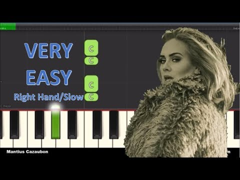 Adele - Hello - Right Hand Very Easy Piano Tutorial