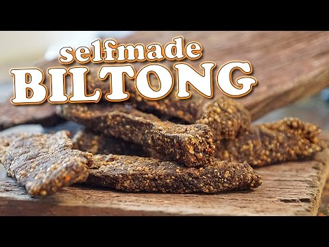 Ultimate prepping survival food - BILTONG diy