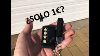 Cómo Conseguir Un Mando De Garaje Por Menos De 2€ (Y PROGRAMARLO)