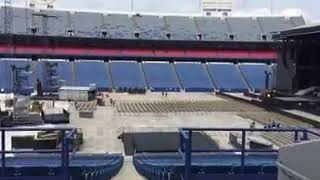 Guns N Roses Setting Up Stage at New Era Field