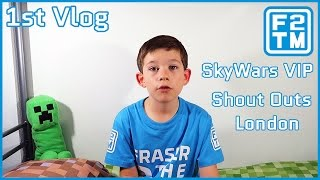 Kid Gaming Vlog / Roblox SkyWars VIP Server Fan Fight / Andare a Londra per incontrare DanTDM / F2TM Vlog