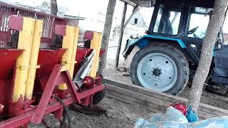 Новая покупка для трактора  картофелесажалка полный ОБЗОР.