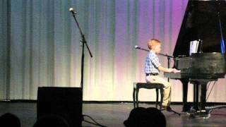"Grant Playing ""Dancing with Frankenstein"" - First Piano Recital! Thumbnail"