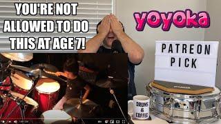 "Drum Teacher Reacts: YOYOKA 'Onyx' - SEVEN YEAR OLD DRUMMER! 川口千里 (Senri Kawaguchi) 7歳女子ドラマー""よよか"" /"