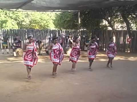 Swaziland  Lobamba 9 Mantenga Cultural Village  Dancing and singing  5 women, legs to head  2016