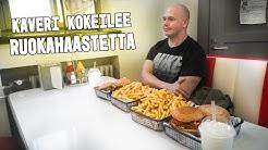 Suomen suurin hampurilaisannos haaste   Kaveri kokeilee ruokahaastetta