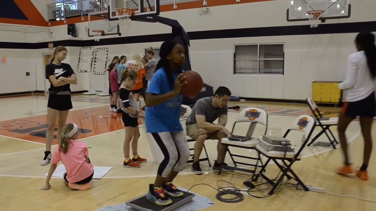 A screenshot from Inspiring Young Engineers at Girl's Basketball Camp