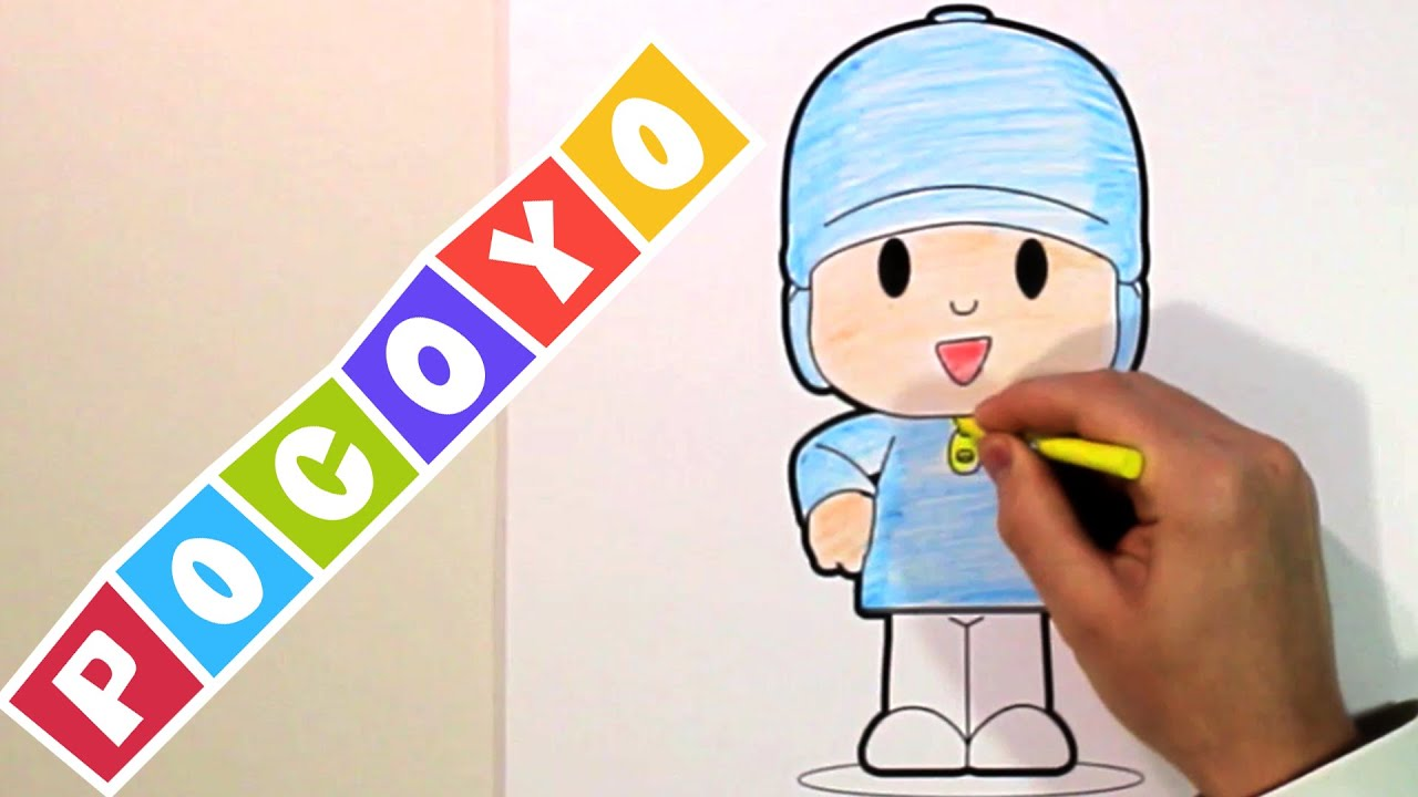 Coloring POCOYO With CrayonsColoring Activation For Kids