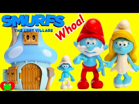 Thumbnail: GIANT Smurfs Brainy Smurf Makes Magical Grow Crystals