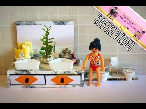 Playmobil - Waschtisch und Toilette basteln - Pimp my Playmobil - Bastelvideo von Familie Mathes