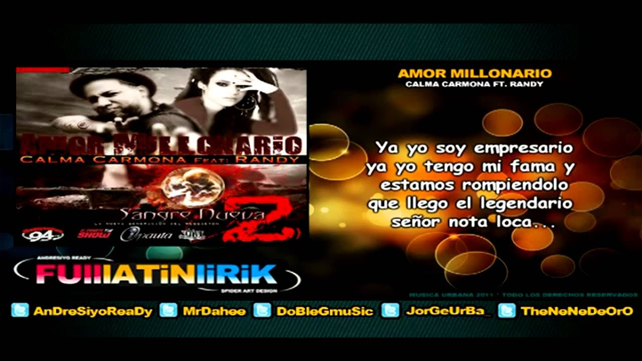 calma carmona ft randy nota loka - amor millonario