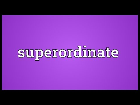 Superordinate Meaning