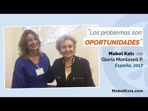 """""""Los problemas son oportunidades"""" · Mabel Katz junto a Gloria Montasell · España, 2017"""