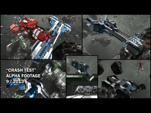 Space Engineers alpha trailer rams spaceships together
