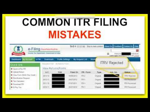 how to file income tax return error free to avoid common e filing mistakes during E filing