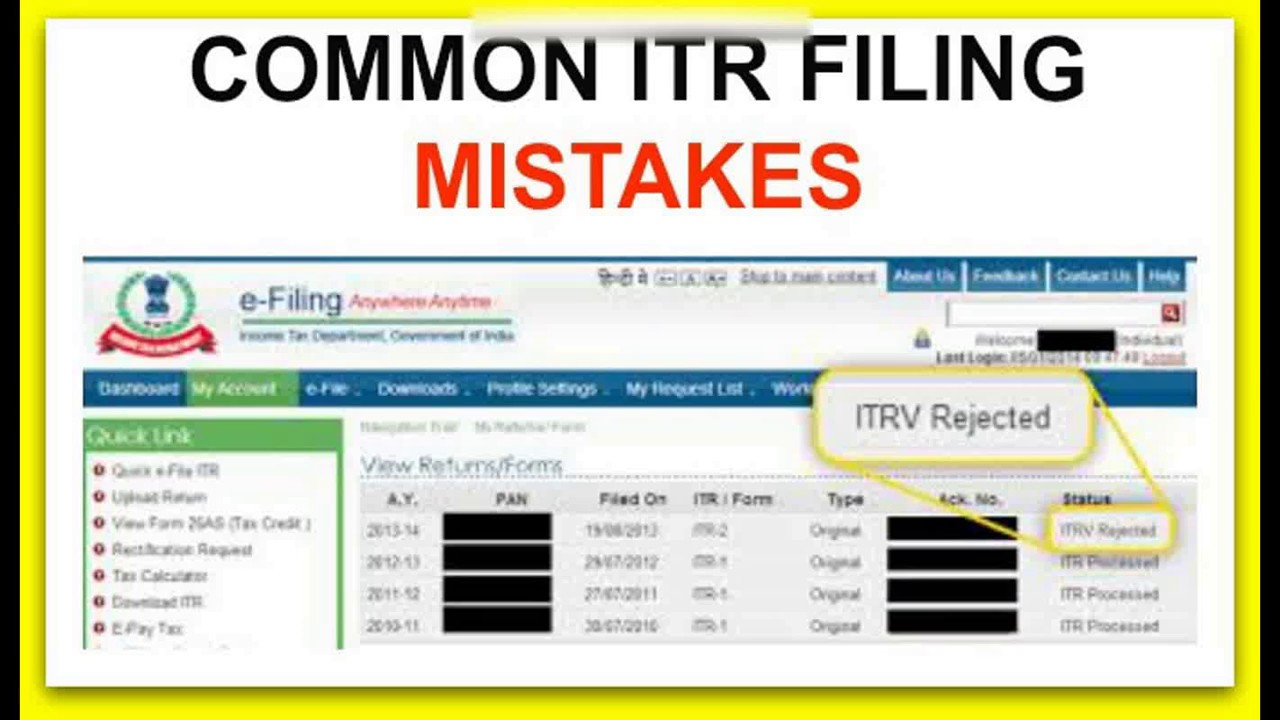 how to file income tax return error free to avoid common e filing ...