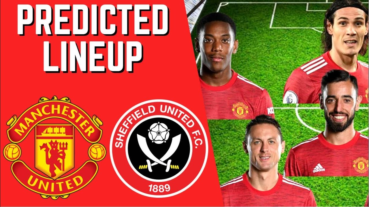 PREDICTED LINEUP - MANCHESTER UNITED VS SHEFFIELD UNITED - PREMIER LEAGUE 2020/21!