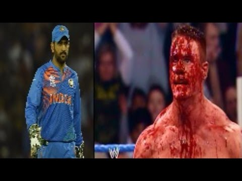 Ms dhoni Never Give Up ft. john cena speech motivational video