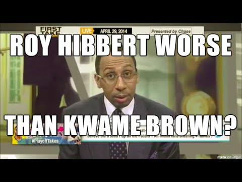 Roy Hibbert worse than Kwame Brown- Stephen A Smith, ESPN First Take, Funny Rant Best NBA New Lakers