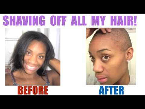 Shaving my head BALD! (Big Chop) | Hair loss/ alopecia areata | March ...