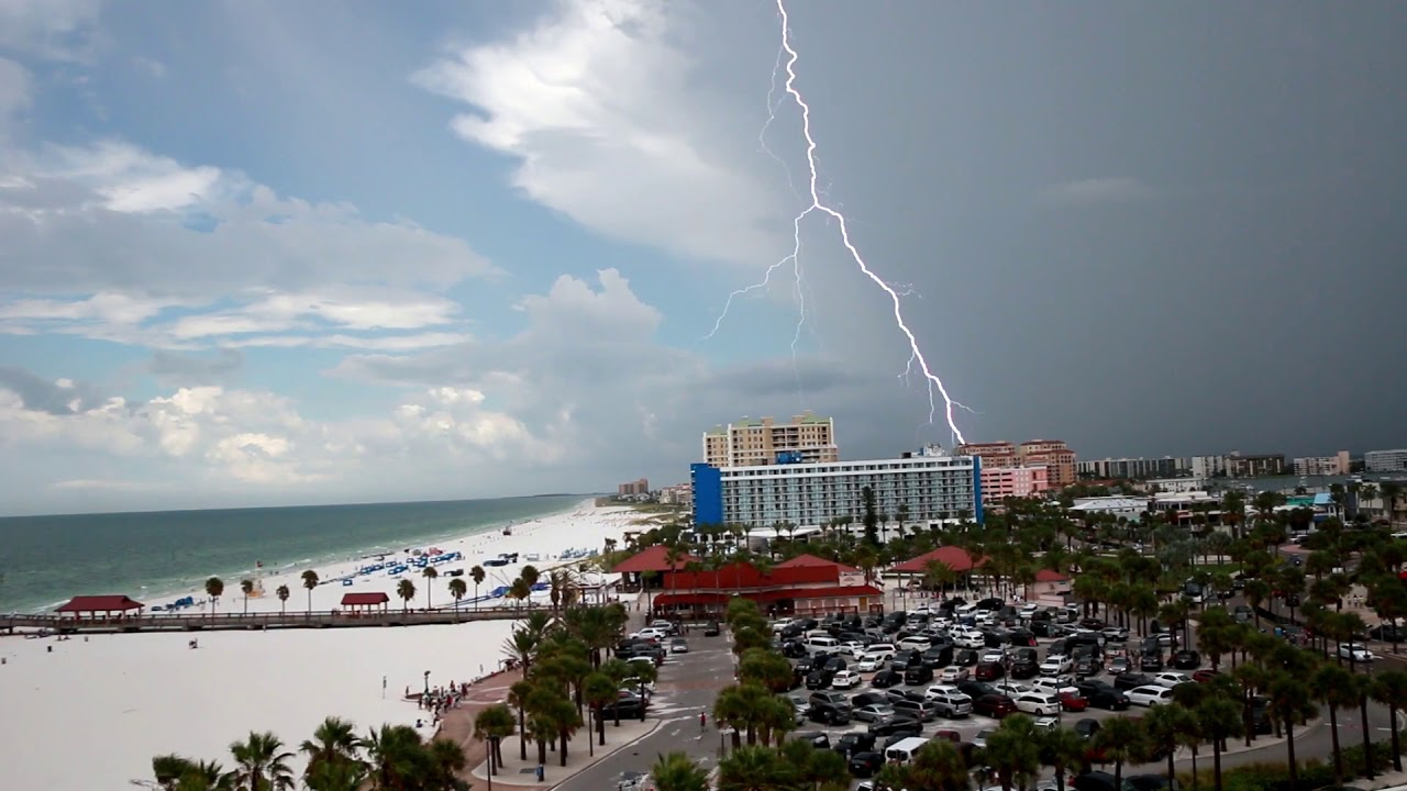Lightning Over Clearwater Beach Florida