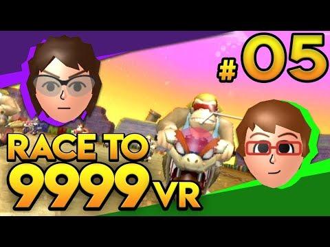 Mario Kart Wii - RIP SPLITSCREEN! - Race To 9999 VR   Ep. 5