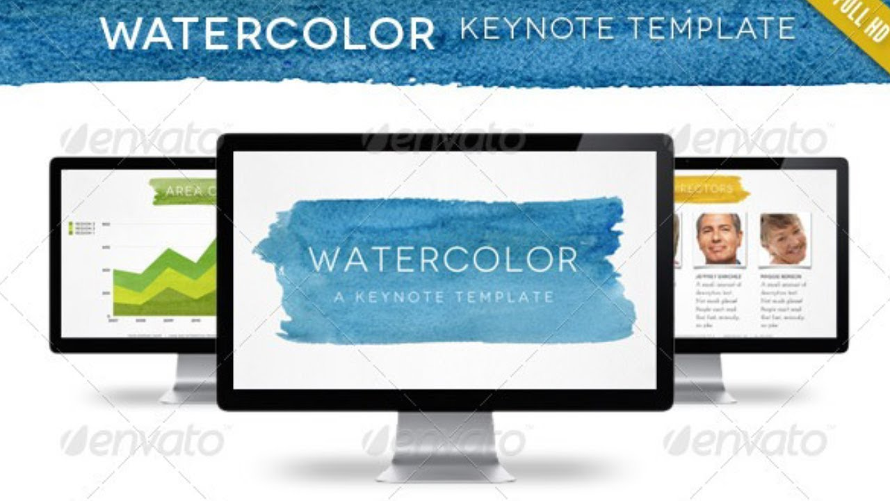 watercolor keynote template free