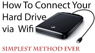 How to Connect Hard Drive to PC via WIFI ¦| SIMPLEST METHOD EVER||