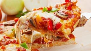 Рецепт пиццы. Очень сочная и вкусная пицца.