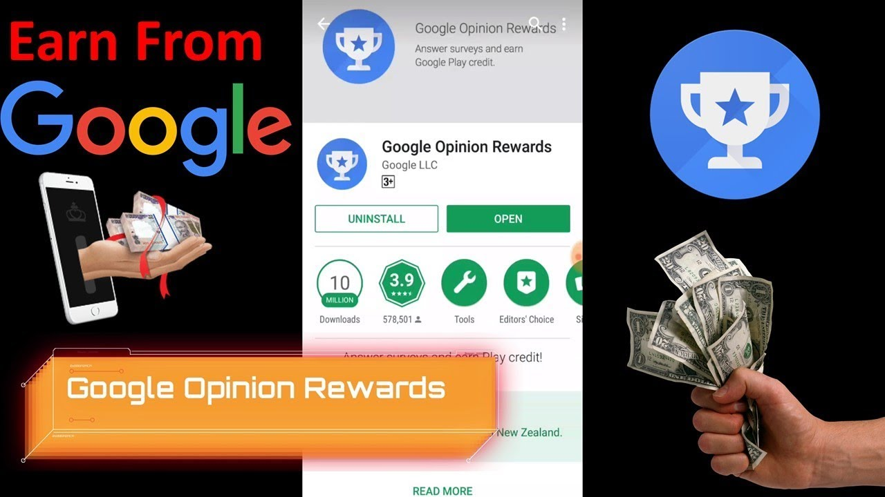 Free Money Google Play Credits Earn From Opinion Rewards