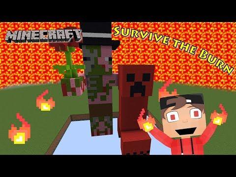 MINECRAFT Der Himmel ist Lava! Survive The Burn Map Deutsch #Kaanzockt