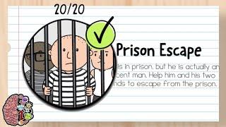 Brain Test 2 : Tricky Stories - Prison Escape - (All Levels) - 1-20 | Full Walkthrough/Guía Completa
