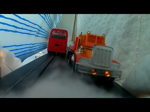 Tested my new action camera with a ride on the slot cars, Denver AC-5000W
