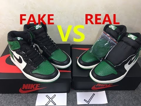 9bee20f52484 Real VS Fake Air Jordan 1 Retro High OG
