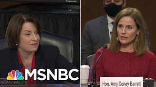 Amy Klobuchar Questions Barrett On What Court Rulings Qualify As 'Super Precedent'   MSNBC