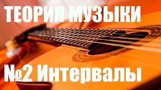 """УРОКИ ИГРЫ НА ГИТАРЕ - МУЗЫКАЛЬНЫЕ ИНТЕРВАЛЫ (ТЕОРИЯ МУЗЫКИ """"САМОУЧКА"""")"""