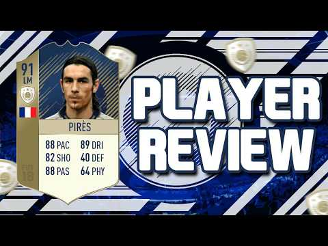 FIFA 18 - 91 RATED PRIME ICON ROBERT PIRES PLAYER REVIEW!!! FIFA 18 ULTIMATE TEAM PLAYER REVIEW!!!