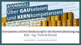 Freigabe von Atommüll - Wirtschaftliche Interessen vor Gesundheitsschutz? | Dipl.-Ing. Thomas Dersee