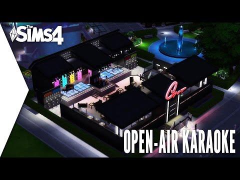 THE SIMS 4 SPEED BUILD #266 - OPEN AIR KARAOKE