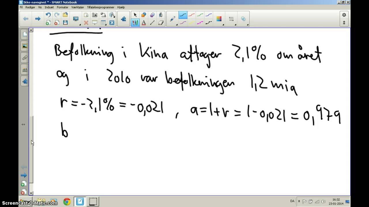 For 1u MaB - lave eksponentielle modeller