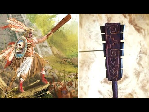 This Aztec Macuahuitl With Obsidian Blades Was So Sharp It C