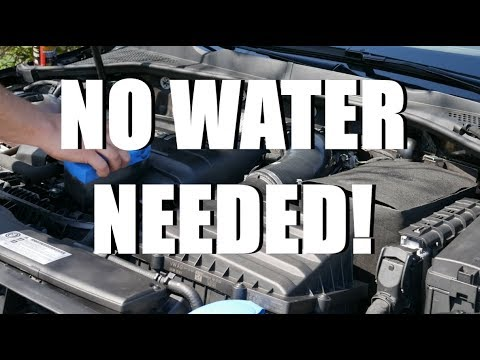Waterless cleaning for your GTI engine bay