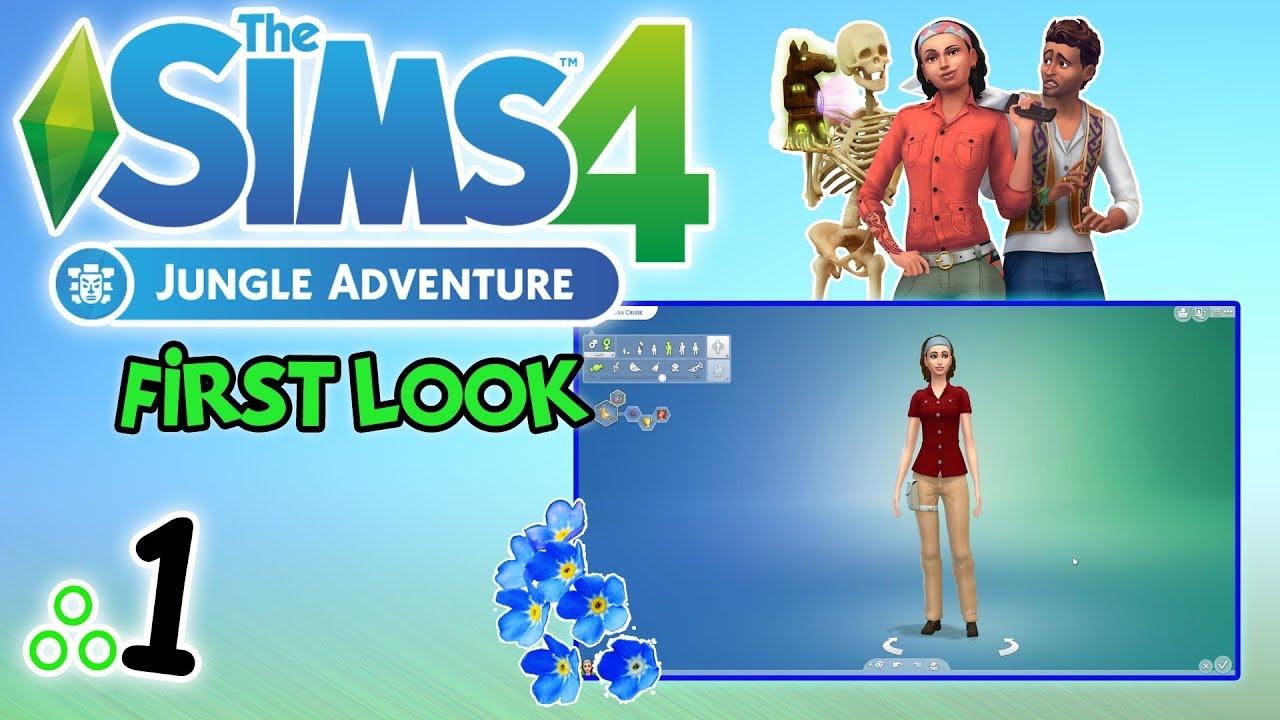 """First Look #80: The Sims 4: Przygoda w dżungli odc. 1 – """"Wzorzyście"""" [PL]"""